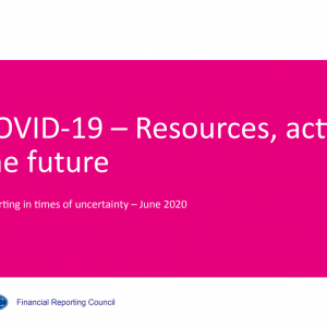 Financial Reporting Council COVID - Resources